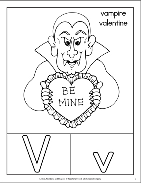 Letter V: Character Page; Letter Page; Sign Language