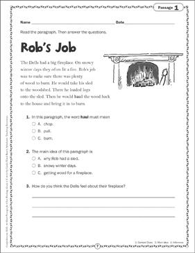 Rob S Job Close Reading Passage