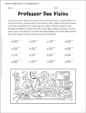 Professor Dee Vision (2-Digit Divisor, 1- & 2-Digit