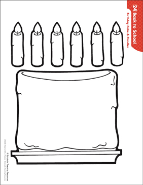 Birthday Cake & Candles (Patterns & Activities