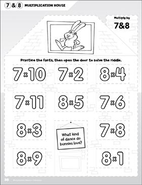Multiply by 7 & 8: Open-n-Peek Multiplication House