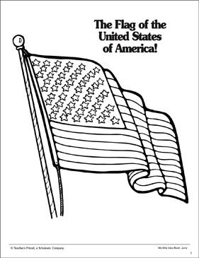The Flag of the United States of America: Coloring Page