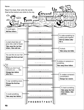 How Can You Order A Ladder Worksheet Answers Pdf