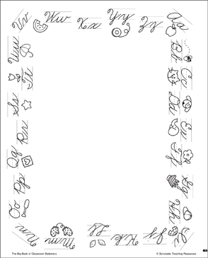 Cursive Alphabet: Stationery (With or Without Lines