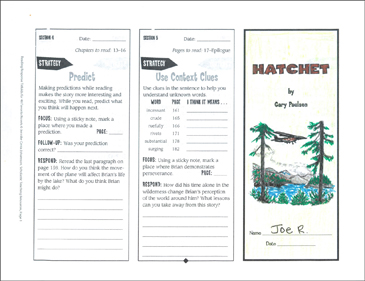 Hatchet Reading Response Trifold