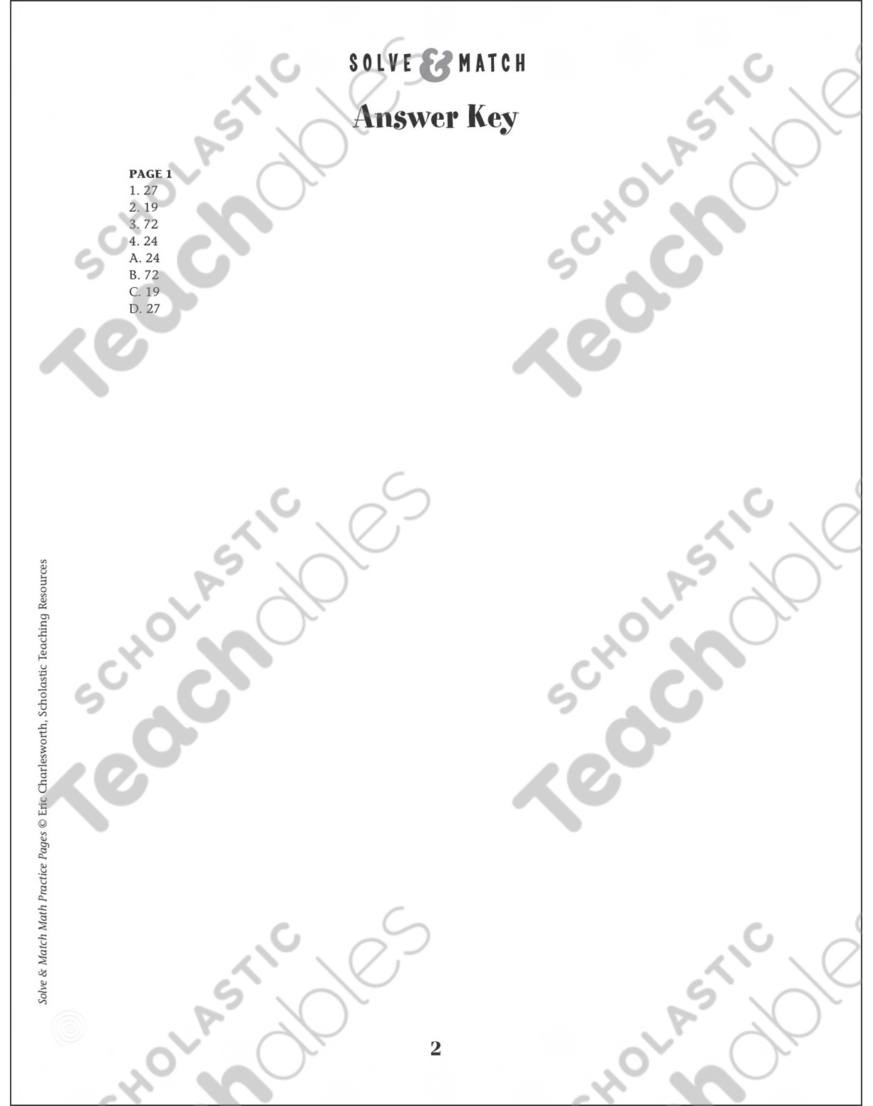 School Scene! (Word Problems): Solve & Match Math