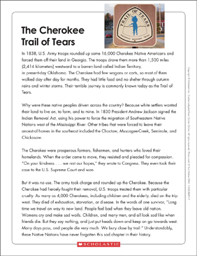 The Trail Of Tears Text Amp Organizer