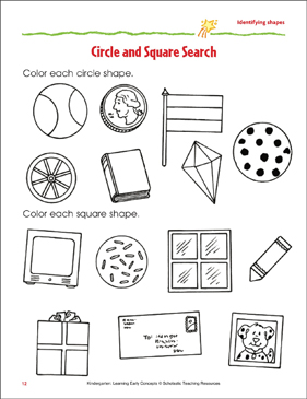Circle and Square Search: Identifying Basic Shapes