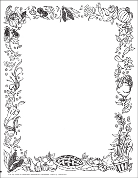 Thanksgiving: Stationery (With or Without Lines