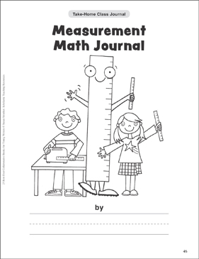 Measurement Math Journal: Take-Home Class Journal