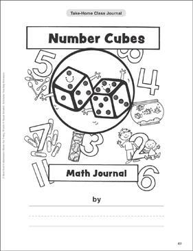 Number Cubes Math Journal: Take-Home Class Journal