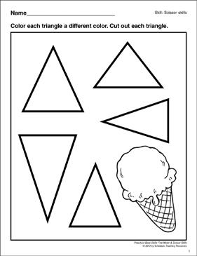 Cutting Out Triangles: Preschool Basic Skills (Scissor
