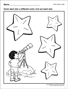 Cutting Out Stars: Preschool Basic Skills (Scissor Skills
