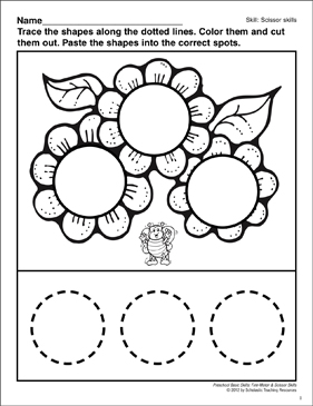 Cutting and Pasting Circles: Preschool Basic Skills