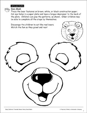 Teddy Bear Ears Template