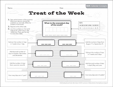 Treat of the Week (Calendar Concepts): Math Pyramid Puzzle
