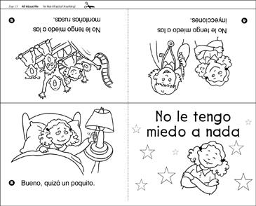 No le tengo miedo a nada: Spanish Emergent Reader