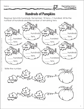 Hundreds of Pumpkins (Regrouping Tens to Hundreds