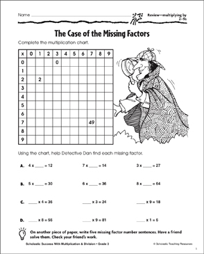 The Case of the Missing Factors (Multiplying by 2-9s