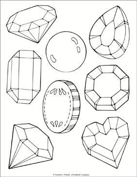 Jewel and Treasure Coloring Page