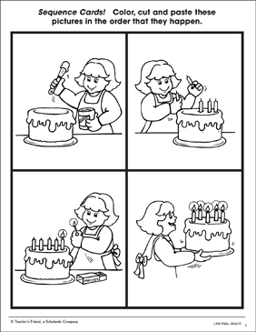 Icing A Cake Sequence Cards