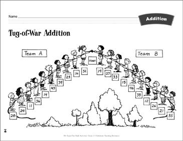 Tug-of-War Addition: Estimating & Adding Activity