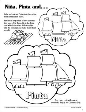 Nina, Pinta, and Santa Maria: Patterns and Activity Ideas