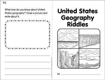 United States Geography Riddles: Write & Read Book