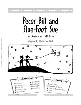 Pecos Bill and Slue-Foot Sue: An Easy-to-Read Play