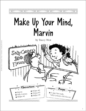 Make Up Your Mind, Marvin!: An Easy-to-Read Play