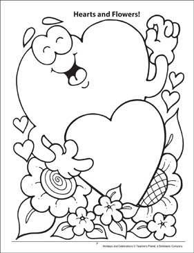 Hearts and Flowers! Holidays and Celebrations Coloring