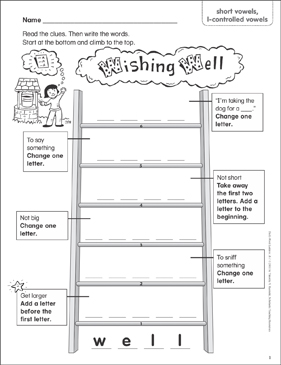 Wishing Well (short vowels, consonant blends & digraphs, l