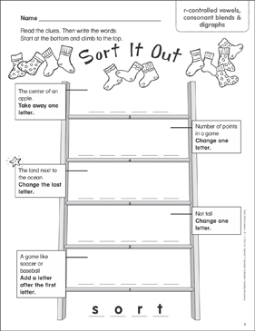 Sort It Out (r-controlled vowels, consonant blends