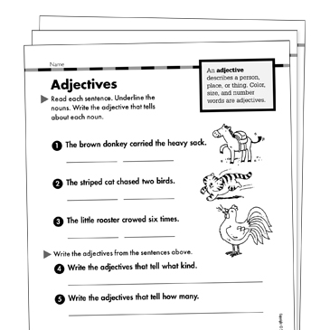 Adjectives Grade 1 Collection