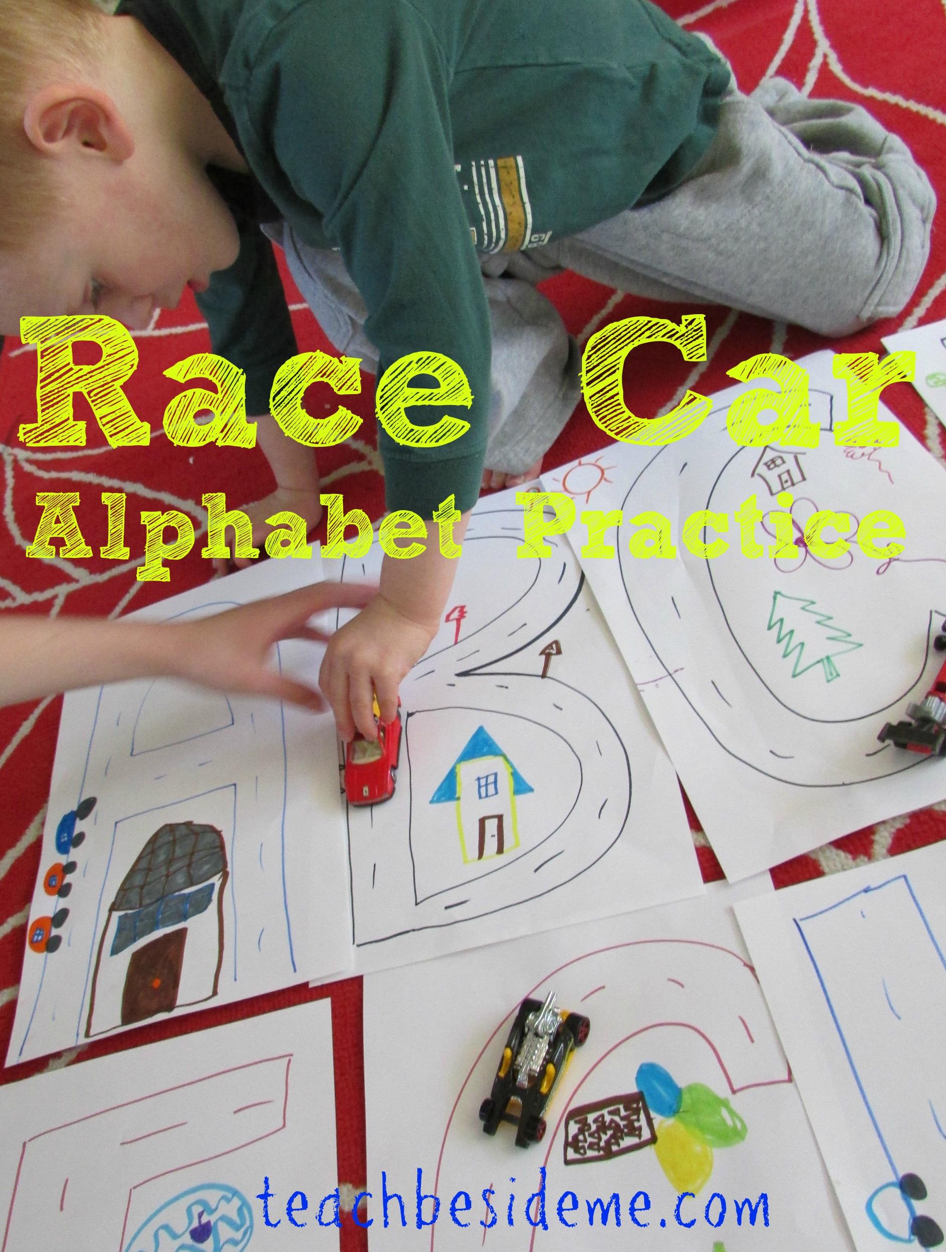 Race Car Alphabet Practice