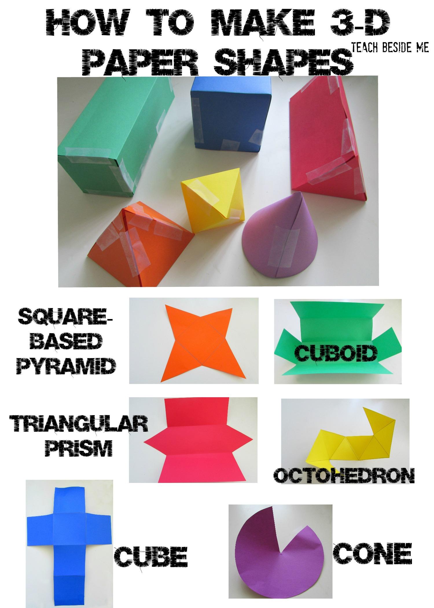 3d Paper Shapes