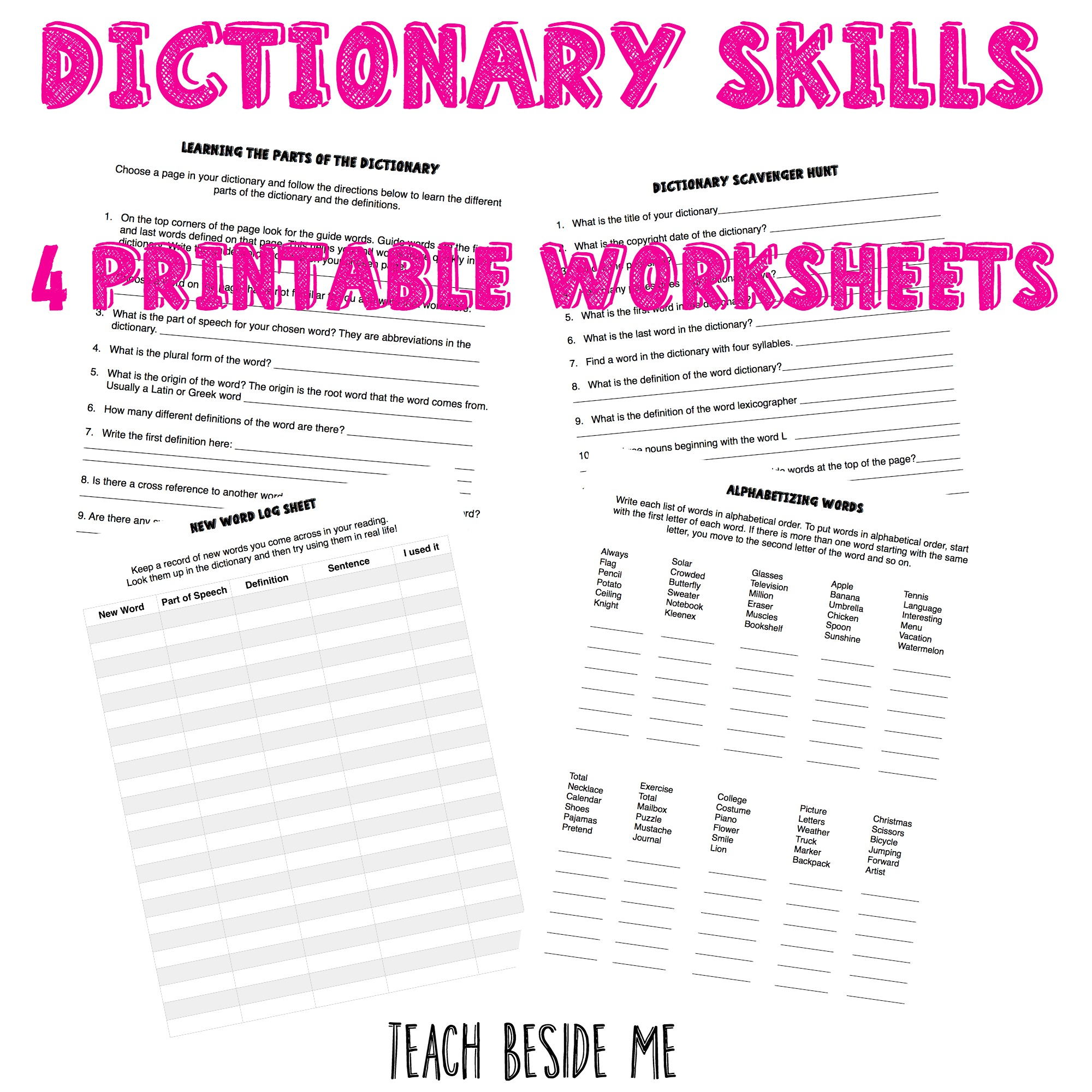 Teaching Worksheets