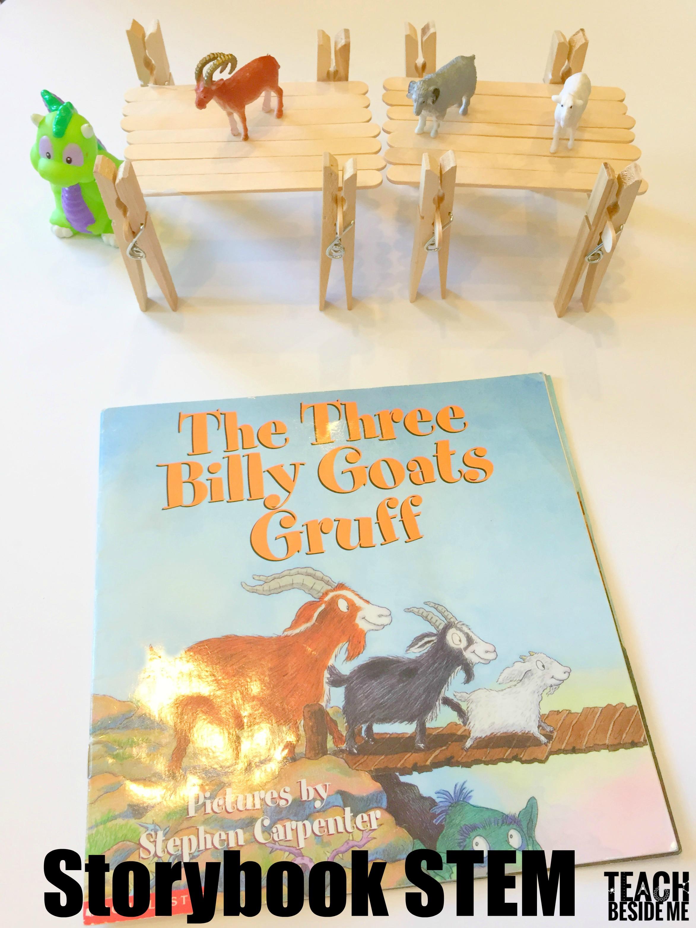 Three Billy Goats Gruff Storybook Stem