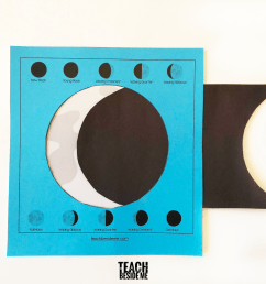 Moon Phases Activity for Kids - Teach Beside Me [ 768 x 1024 Pixel ]