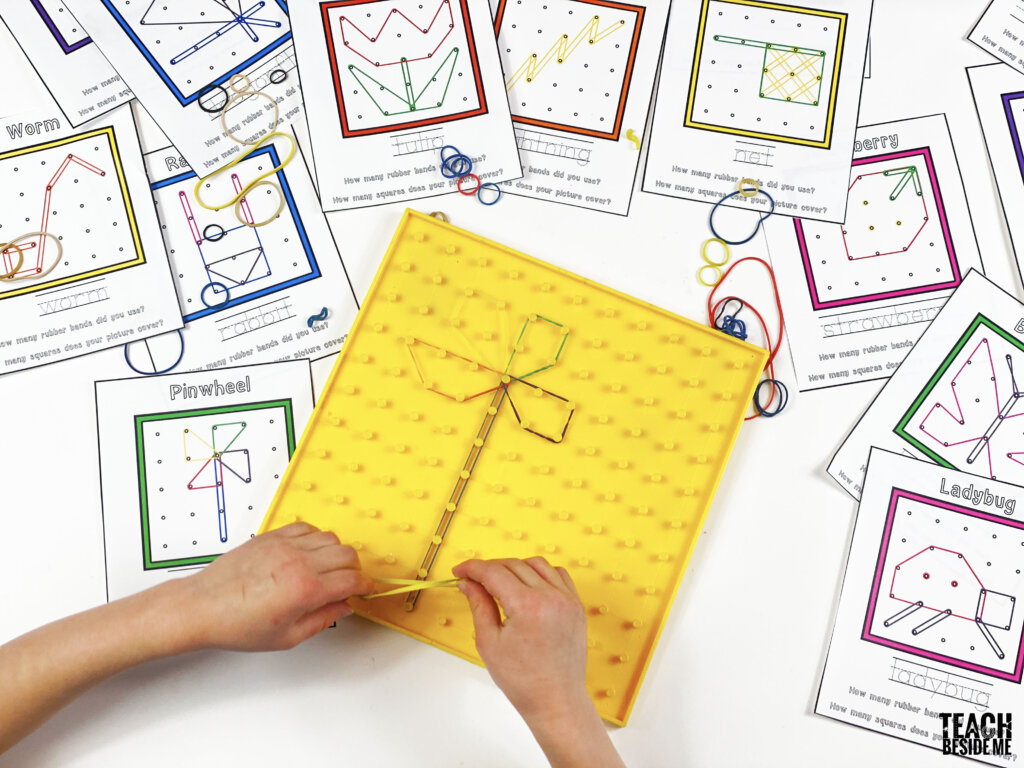 Printable Spring Geoboard Activity Cards