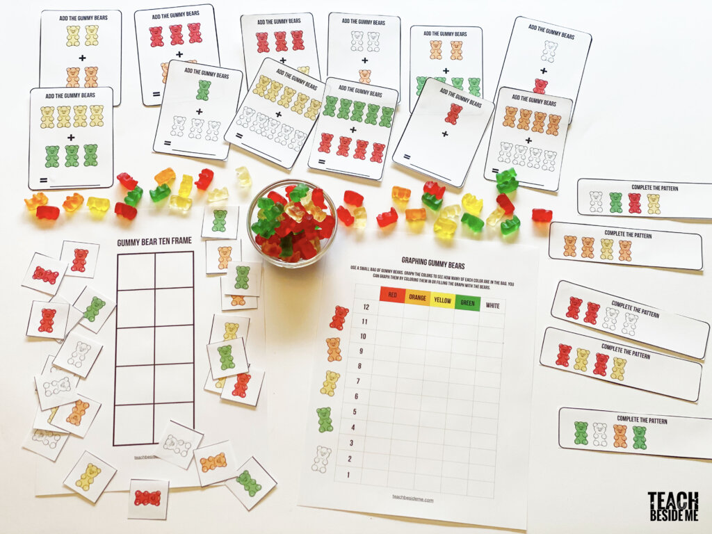 Gummy Bear Math Patterns Graphing And Addition