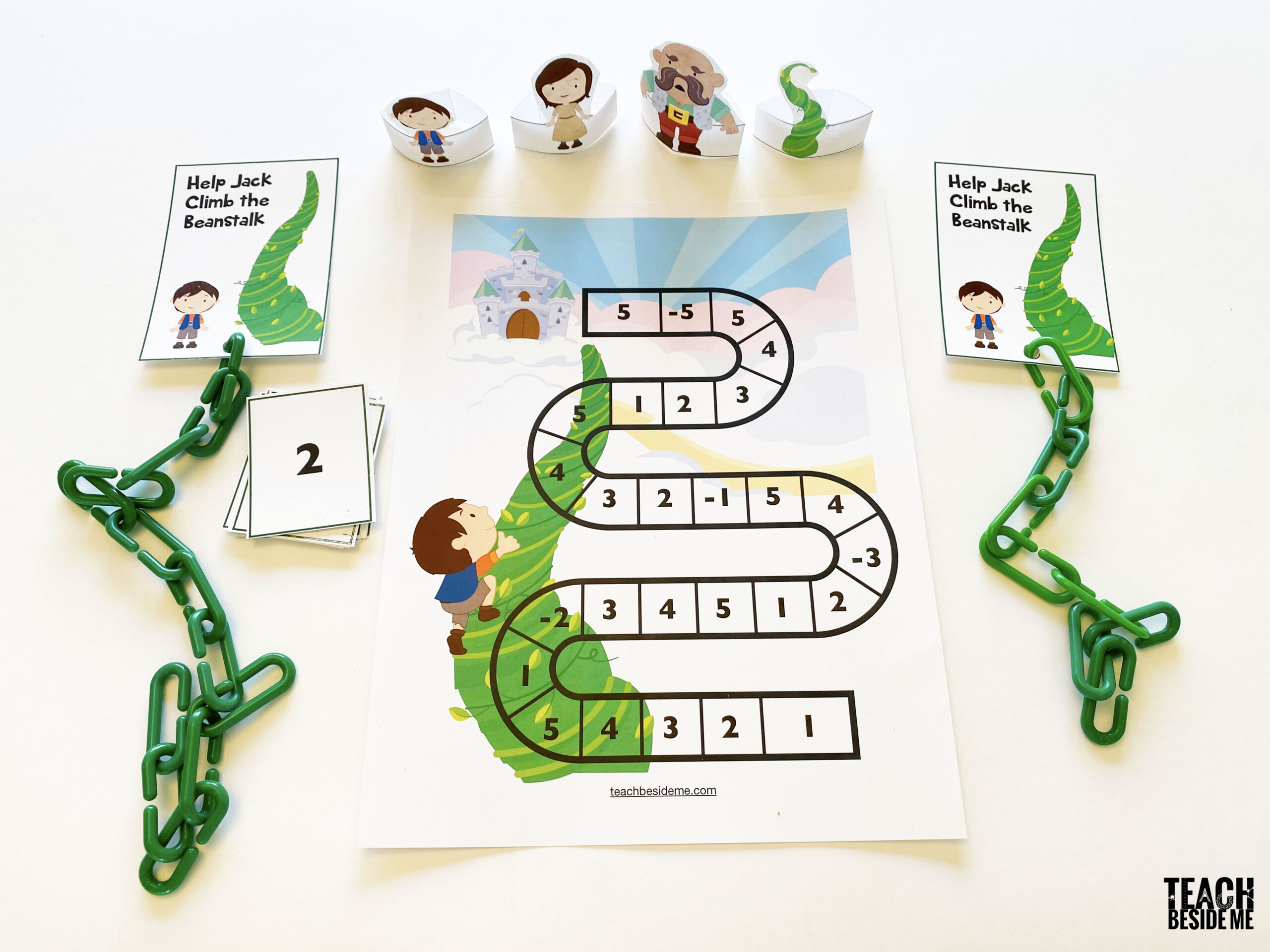 Jack And The Beanstalk Counting Math Game For Kids