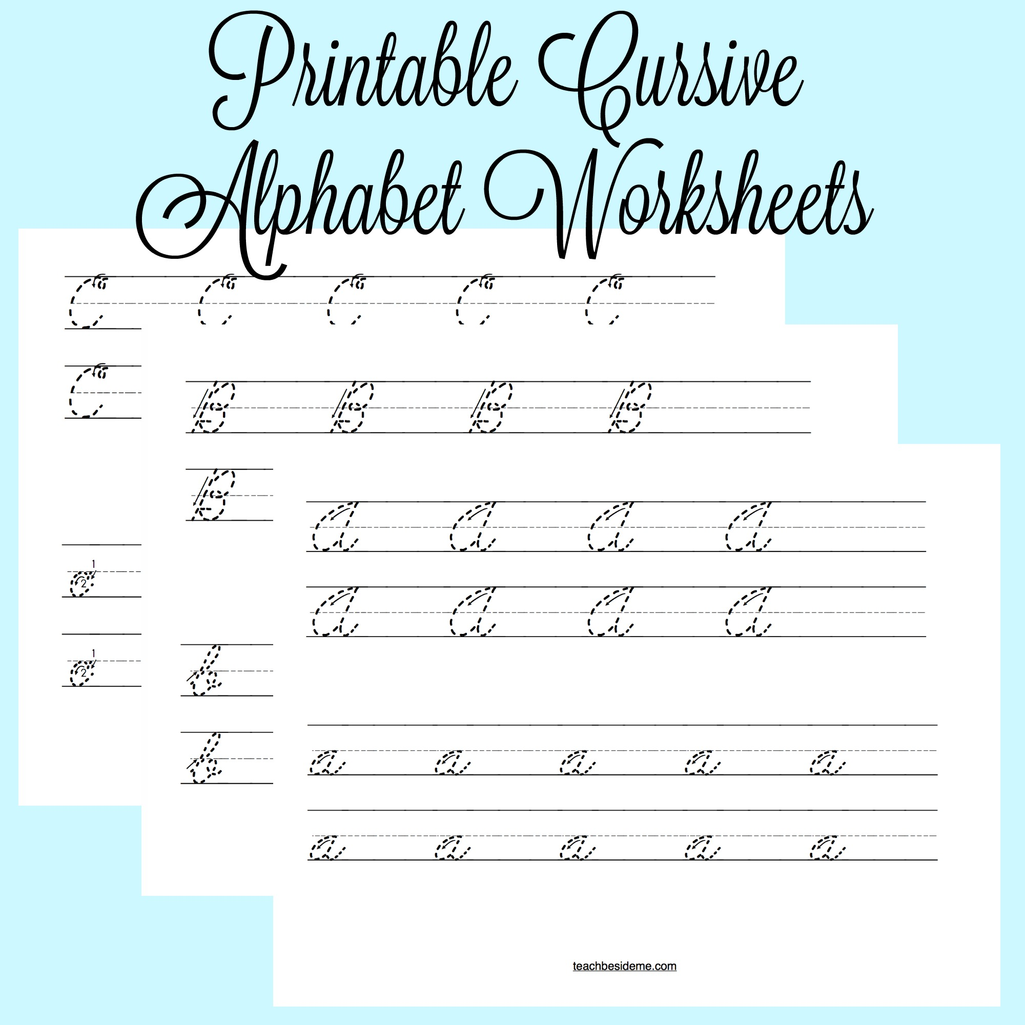 Printable Cursive Alphabet Worksheets