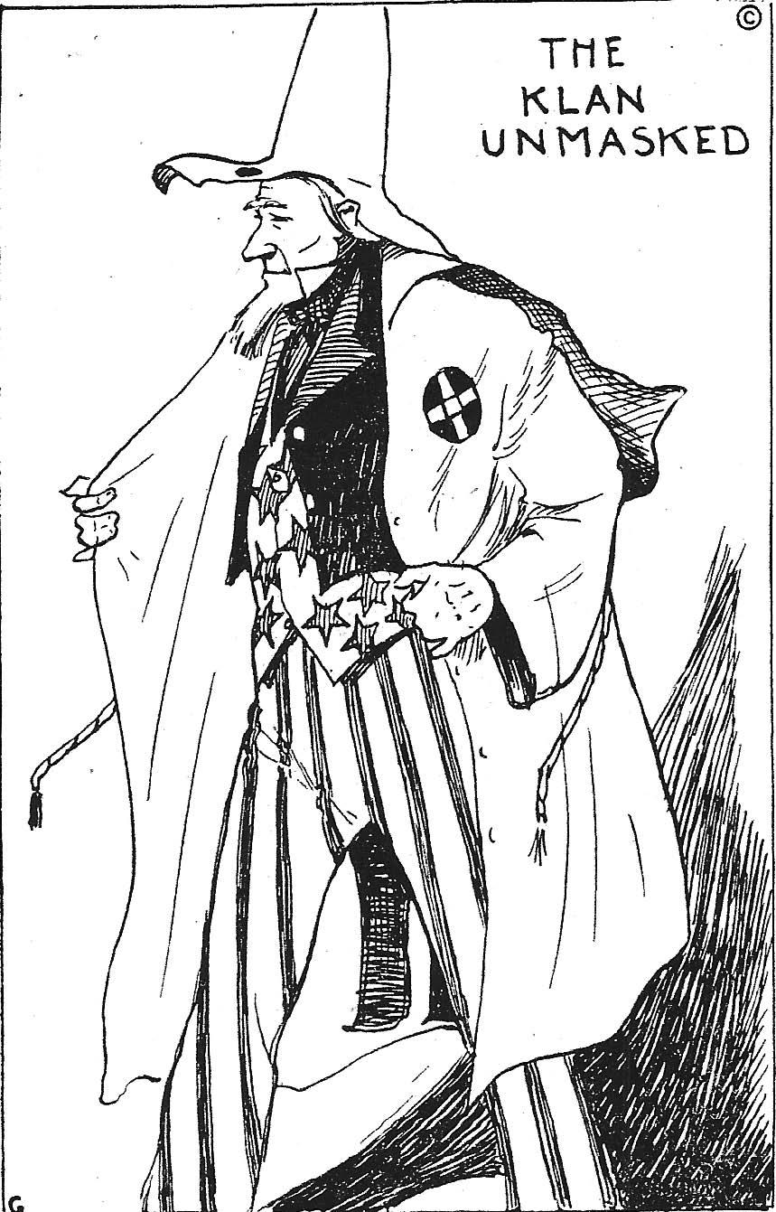 The Klan Unmasked, Cartoon from Klan newspaper