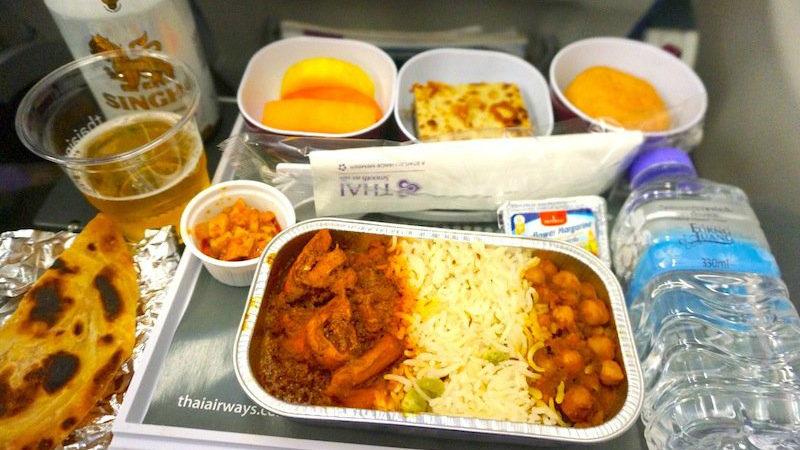 【タイ国際航空機内食】TG307/BKK-CMB/バンコク(スワンナプーム)-コロンボ