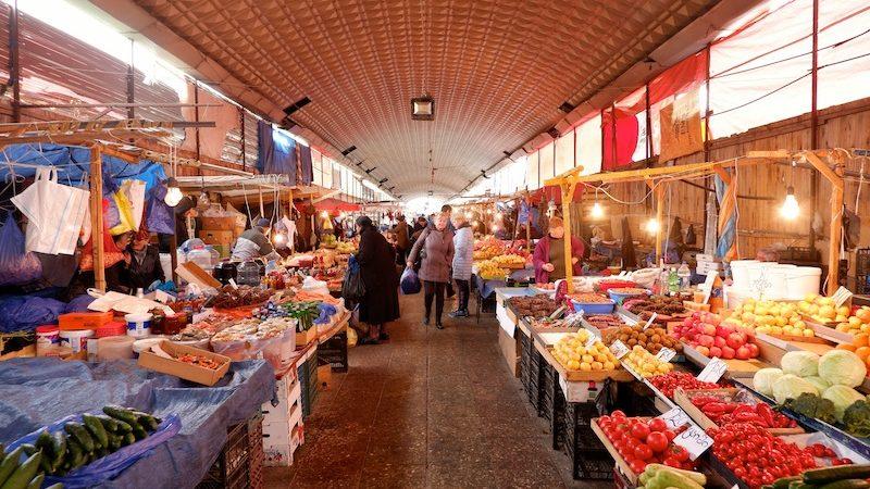 【世界一周】お土産を探しにトビリシのお地元市場/マーケットへ