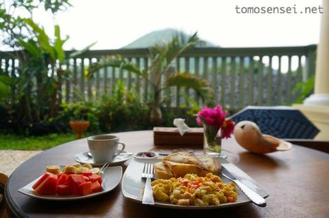 Cilu Bintang Estateの朝食