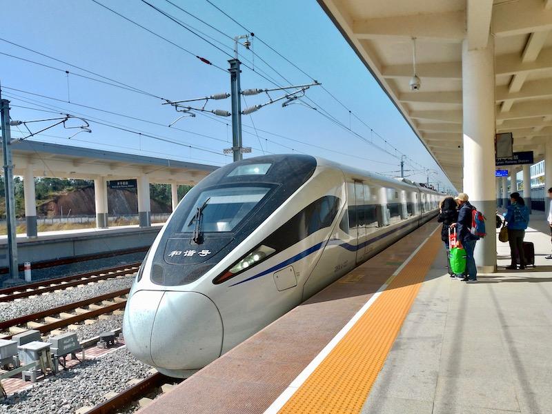 【中国】開平から広州へ高速鉄道で移動
