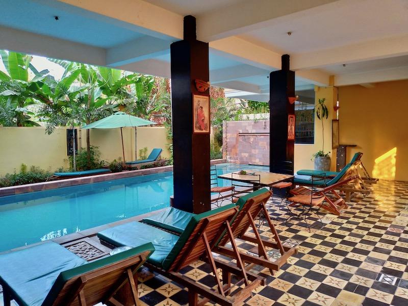 【カンボジア】シェムリアップの静かなプチホテル「Golden Banana Residence」