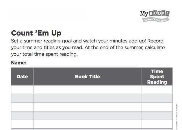 My Books Summer  Summer Reading Program